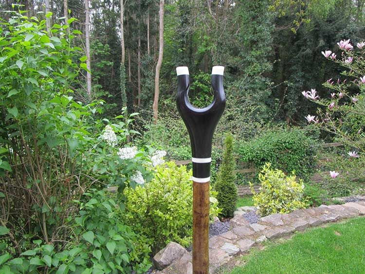 Buffalo horn thumb stick, bone spacer