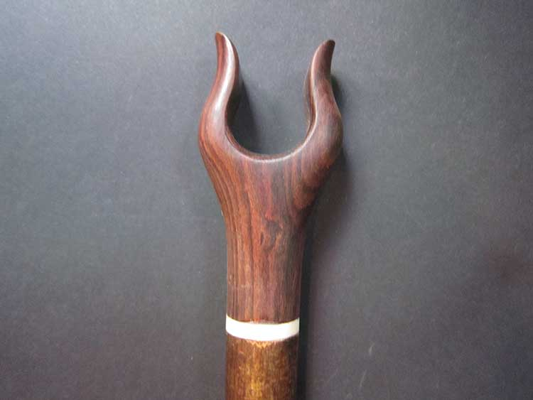 Rose wood thumb stick on hazel